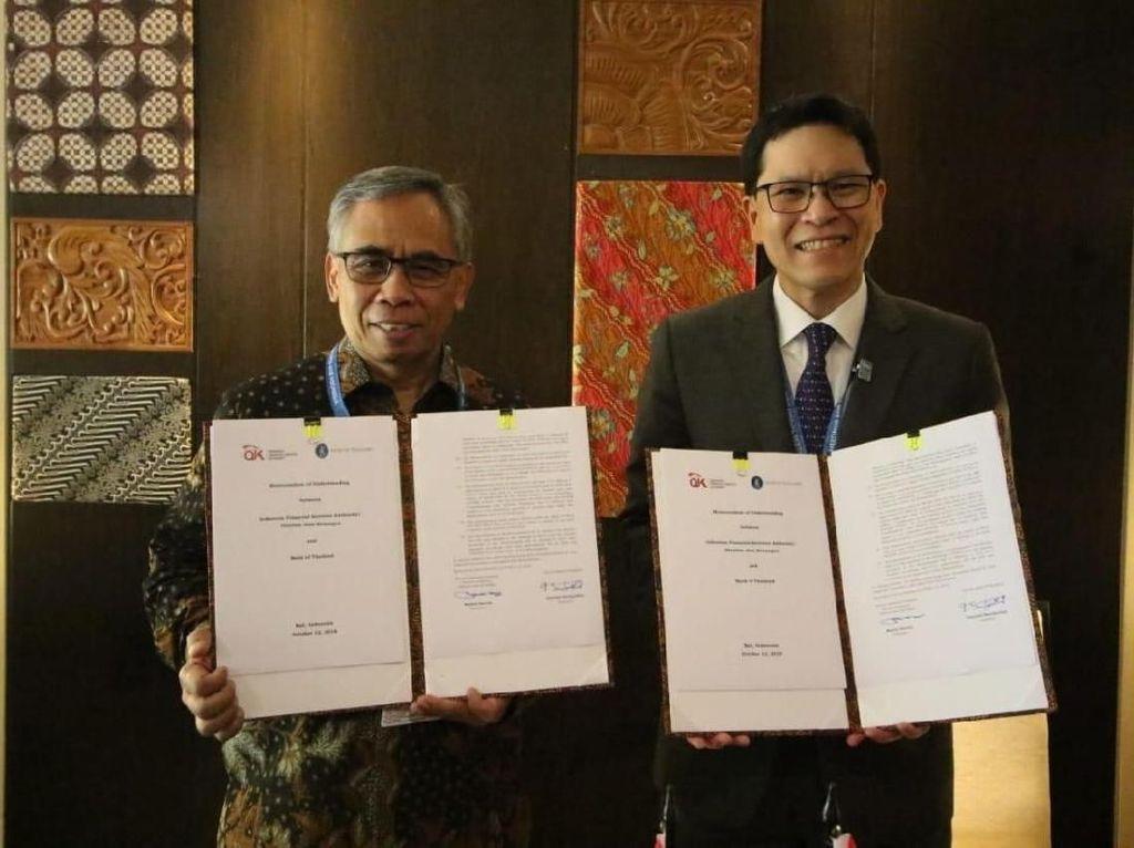 OJK Teken Perjanjian Pengawasan Perbankan dengan Bank of Thailand