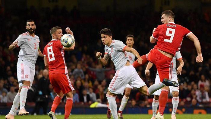 Spanyol menang telak 4-1 atas Wales di laga uji coba. (Foto: Dan Mullan/Getty Images)