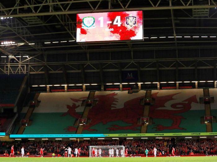 Dalam pertandingan di Principality Stadium, Cardiff, Jumat (12/10/2018) dinihari WIB,Spanyol memetik kemenangan dengan skor akhir 4-1.(Foto: Andrew Couldridge/Action Images via Reuters)
