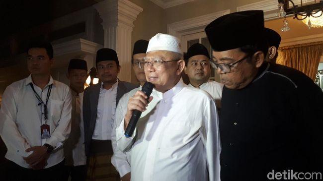 Bertemu Ma'ruf Amin, Pengurus NU DKI Berikan Dukungan di Pilpres