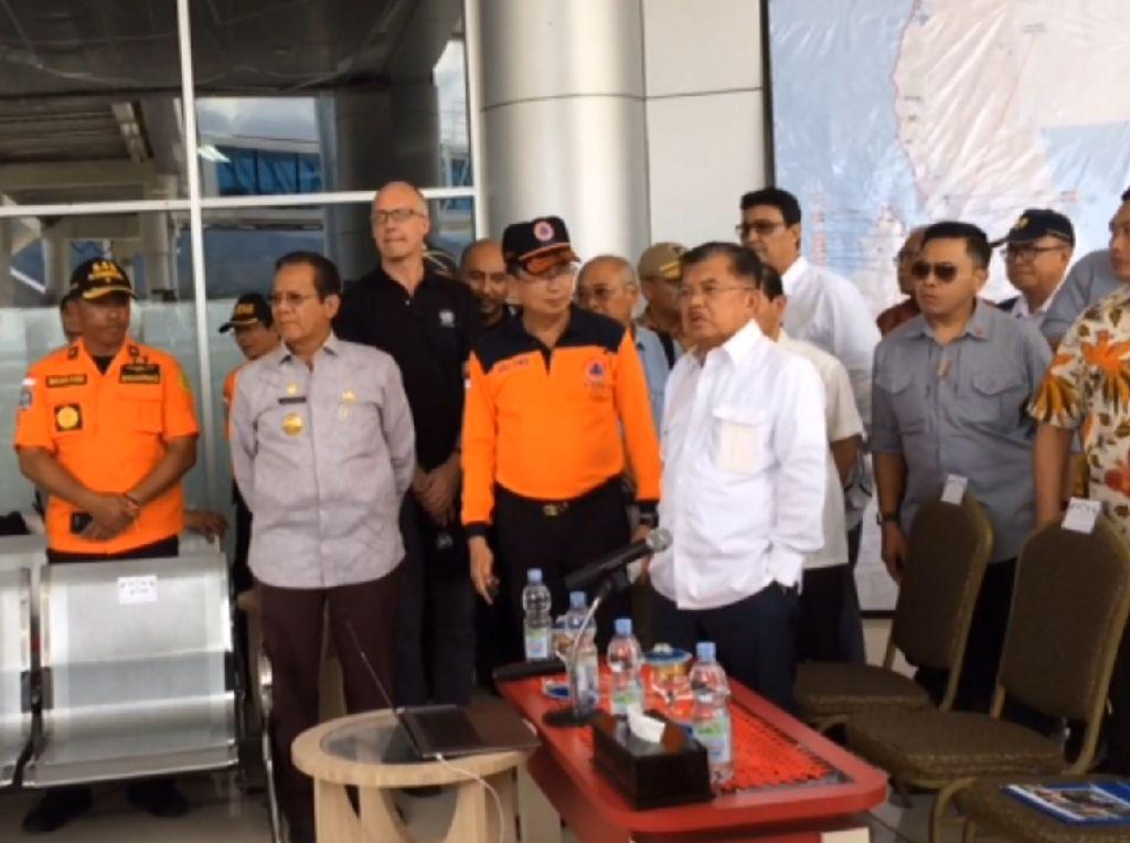 Tiba di Palu, JK dan Sekjen PBB Disambut Gubernur Sulteng