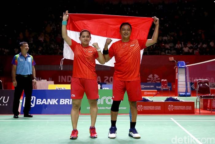 Medali emas kembali diraih para atlet Indonesia. Pasangan ganda campuran Hary Susanto/Leani Ratri Oktila sukses persembahkan medali emas ke-36 untuk Indonesia.