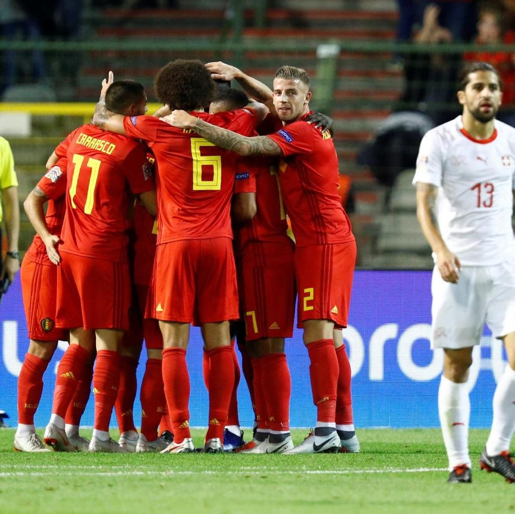 Hasil Belgia vs Swiss: Lukaku Menangkan Red Devils