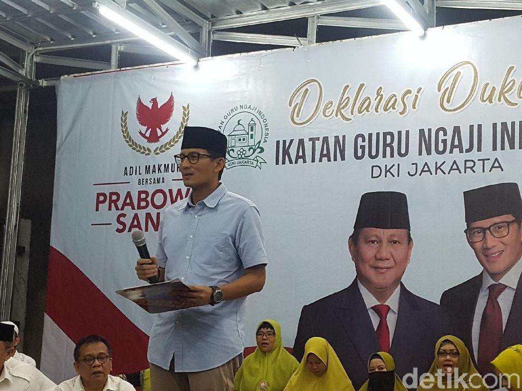 Saat Sandi Sebut Ada Udang di Balik Batu ke Jokowi
