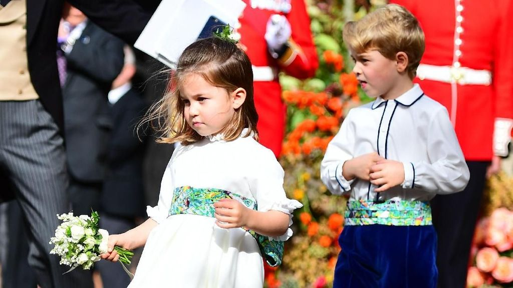 Gemas! Pangeran George dan Charlotte Jadi Pengiring Pengantin Putri Eugenie
