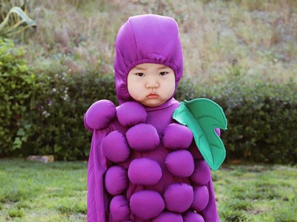 8 Foto Cute Anak Pakai Kostum Makanan
