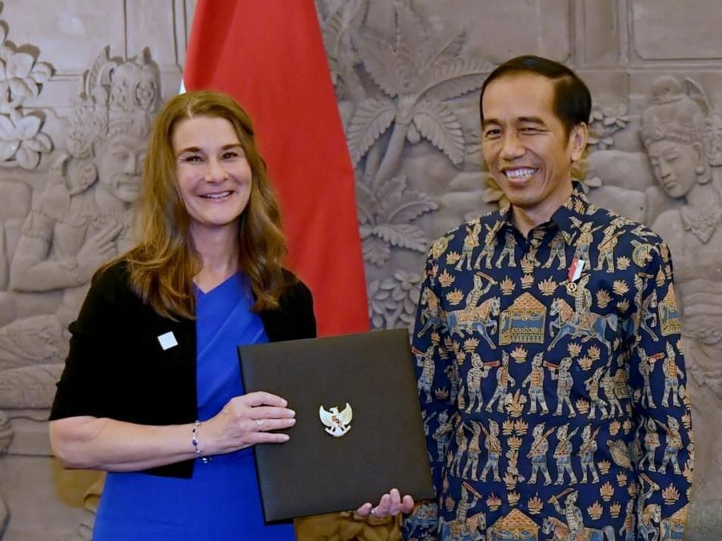 Jokowi Gandeng Melinda Gates Tingkatkan Kualitas SDM RI
