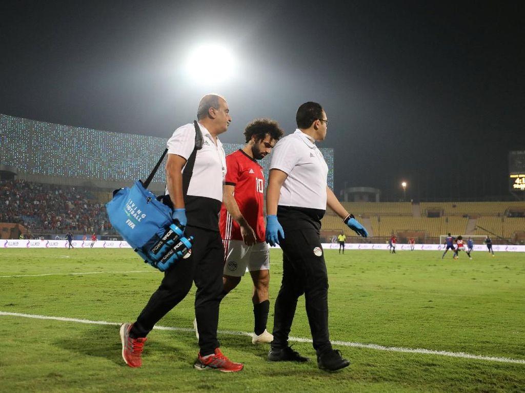 Salah Bersama Mesir: Cetak Gol dari Tendangan Sudut, Kemudian Cedera