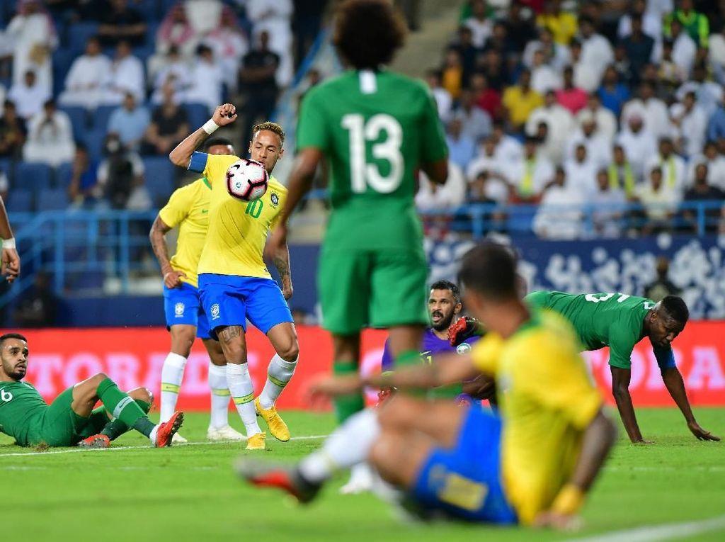 Hasil Arab Saudi vs Brasil: Selecao Menang 2-0