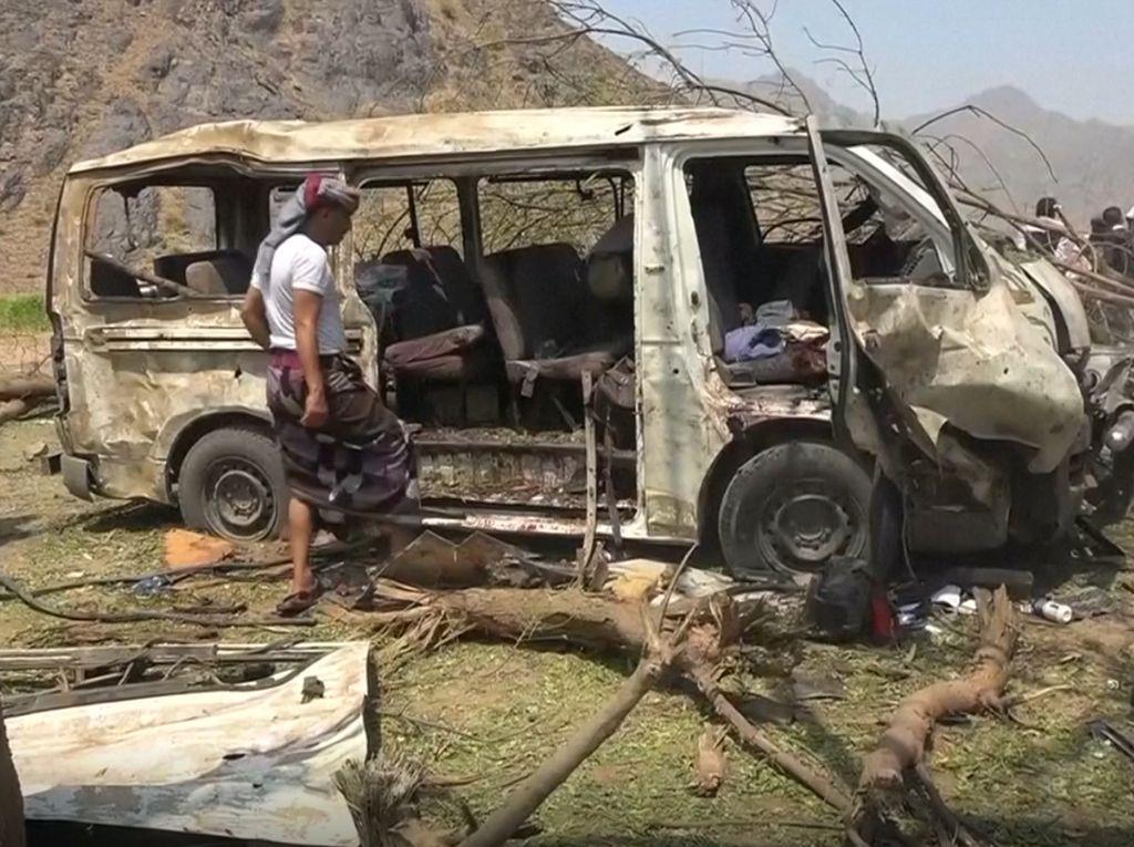 10 Orang Tewas Akibat Serangan Udara Pimpinan Saudi di Yaman