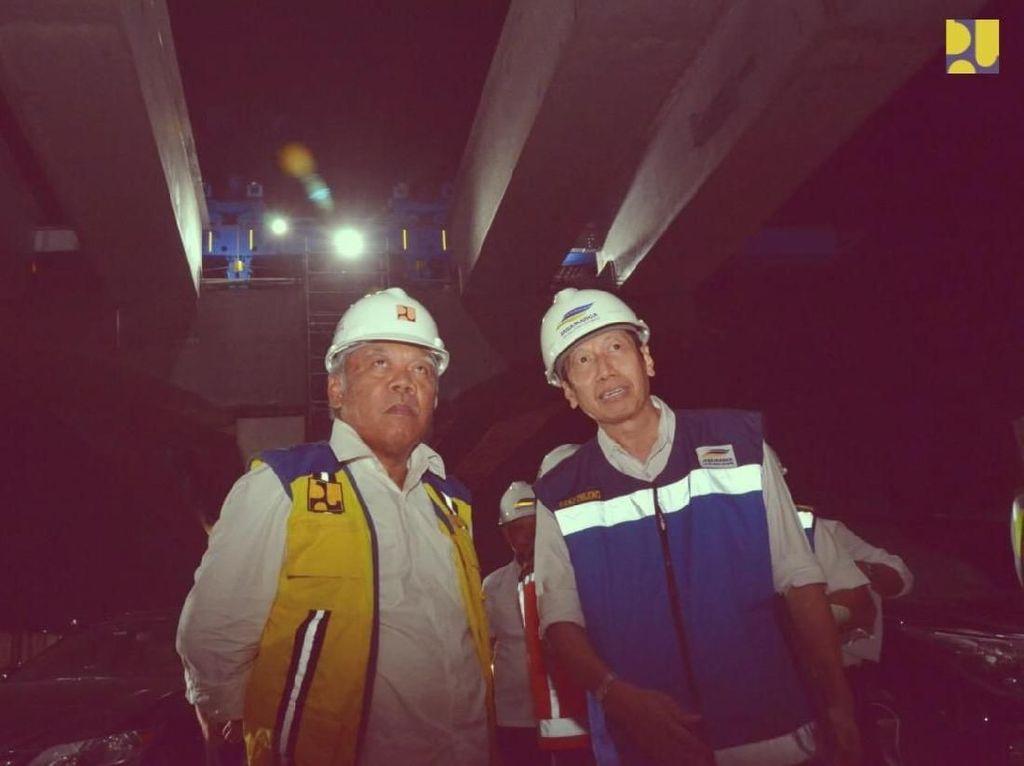 Menteri PUPR Blusukan di Proyek Jakarta Cikampek Layang