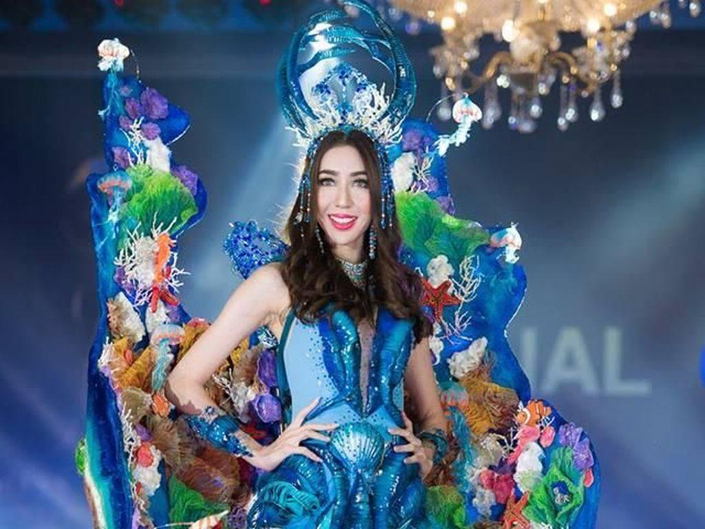 Gaya Heboh 10 Peserta Miss Grand International, Malaysia Pakai Baju Dayak