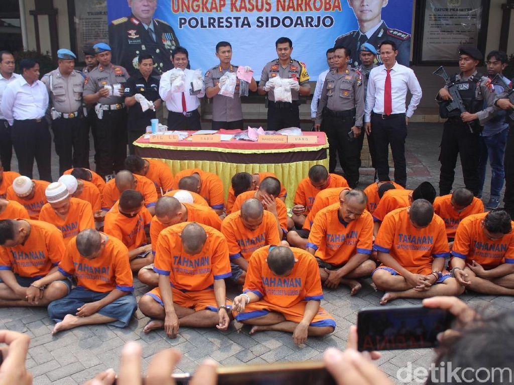 Dua Pekan, Puluhan Pengedar Narkoba Diamankan di Sidoarjo