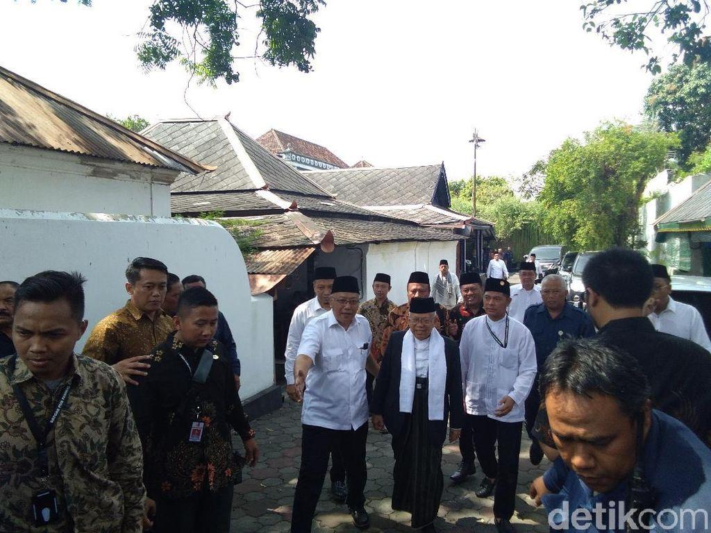Maruf Amin Temui Sultan HB X di Keraton Yogya, Ini yang Dibahas