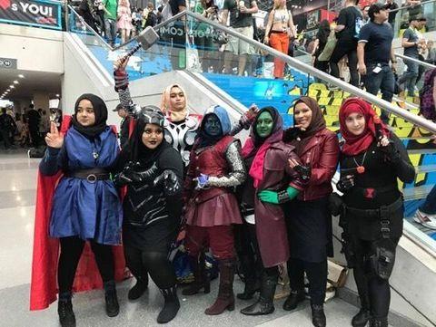 'Hijab Heroes', Kumpulan Hijabers Pakai Kostum Avenger Viral di Medsos
