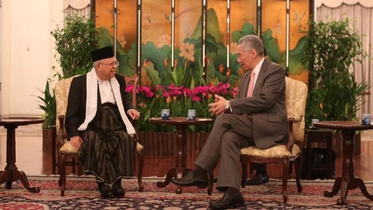 Maruf Amin ke Singapura, Temui Perdana Menteri Lee