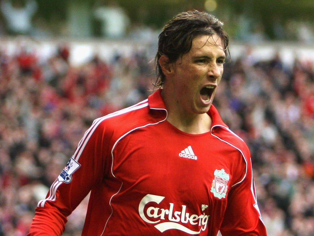 LIVERPOOL, UNITED KINGDOM - AUGUST 19:  Fernando Torres of Liverpool celebrates scoring the opening goal during the Barclays Premier League match between Liverpool and Chelsea at Anfield on August 19, 2007 in Liverpool, England. (Photo by Phil Cole/Getty Images)