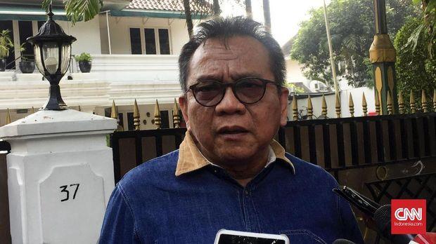 Ketua DPD Partai Gerindra DKI Jakarta Mohamad Taufik bertemu dengan Ketua DPRD DKI Prasetio Edi Marsudi di Jakarta, Selasa (16/10).