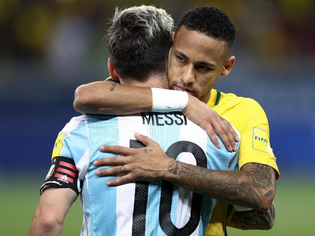 Neymar Menyesal Tak Bisa Hadapi Messi