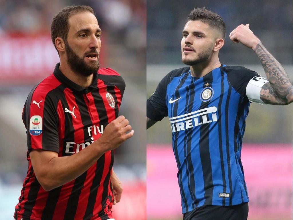 Menantikan Adu Tajam Higuain Vs Icardi di Derby Milan