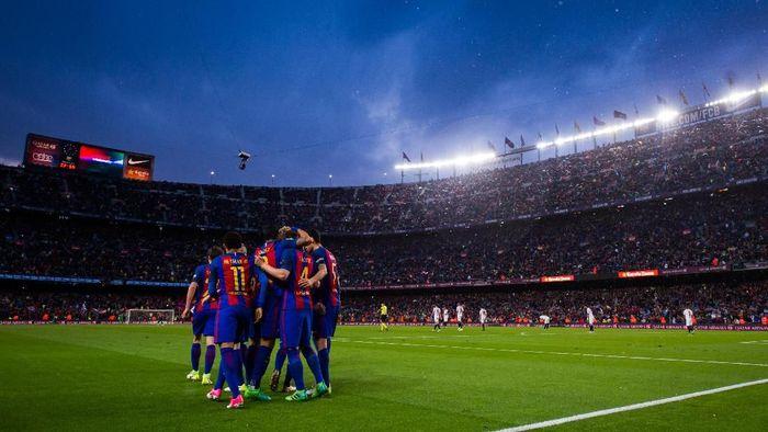 Barcelona disebut Allegri sebagai favorit juara Liga Champions musim ini. (Foto: Alex Caparros/Getty Images)