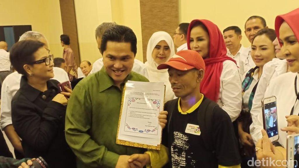 Temui Erick Thohir, Handoko Bersepeda 8 Hari dari Jepara ke Jakarta