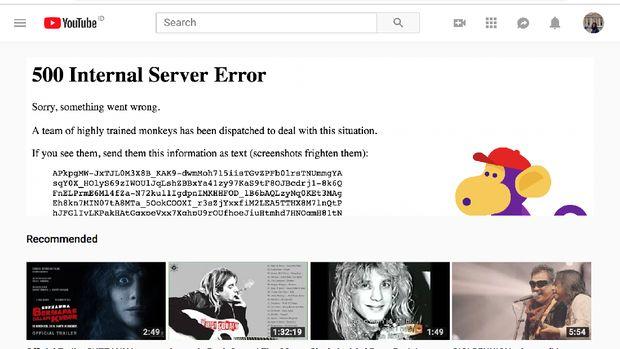 YouTube Down, Video Tak Bisa Diputar