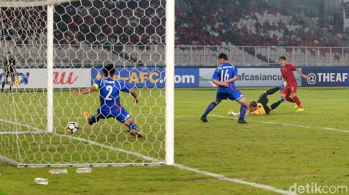 Timnas Taiwan kalah 1-3 dari Indonesia di laga pembuka Piala Asia U-19 (Ari Saputra/detikSport)