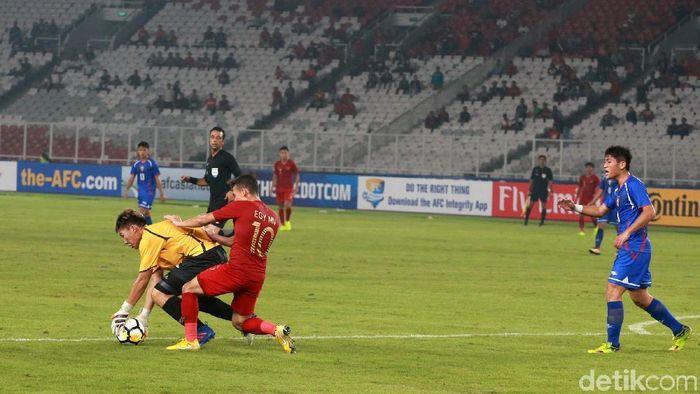 Penyelesaian akhir Timnas Indonesia U-19 dianggap masih buruk (Ari Saputra/detikSport)