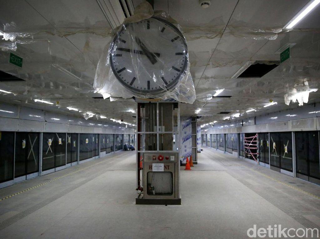 Penampakan Stasiun MRT Senayan yang Hampir Rampung