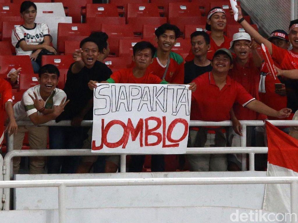 Poster Jomblo Dukung Timnas U-19 di GBK