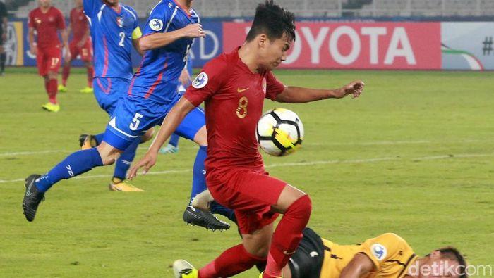 Timnas Indonesia U-19 menang 3-1 atas Taiwan di laga pertama Piala Asia U-19. (Foto: Ari Saputra)