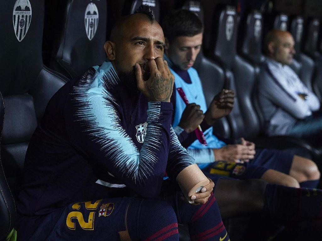 Vidal Lebih Sering Main untuk Timnas daripada Klub