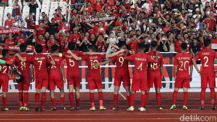 Timnas Indonesia di Piala Asia U-19 2018. (Foto: Ari Saputra/detikcom)