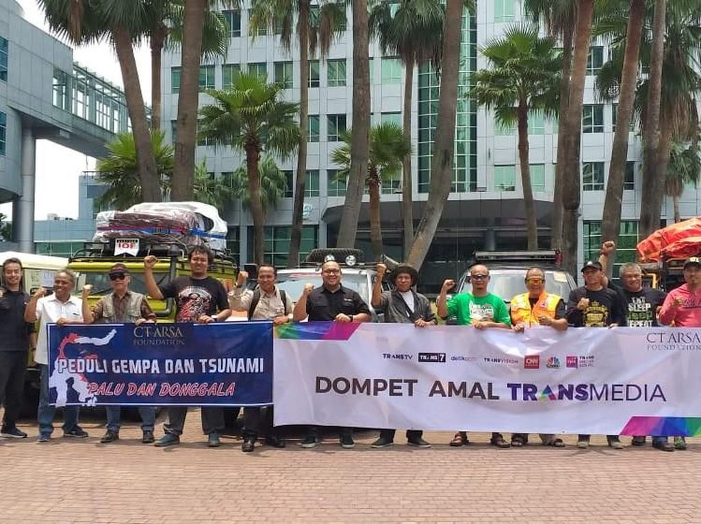 CT Arsa Bersama Transmedia dan IOF Salurkan Lagi 5 Ton Logistik ke Palu