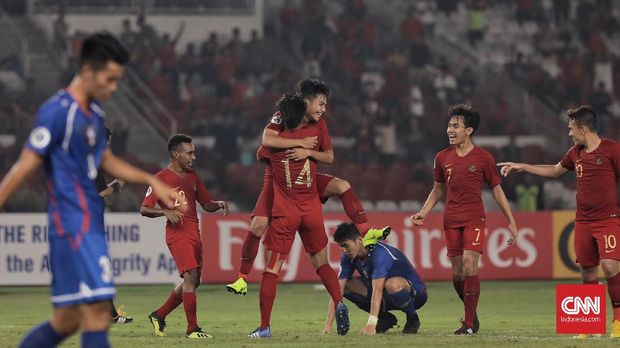 Timnas Indonesia U-19 meraih tiga poin usai menang atas Taiwan.