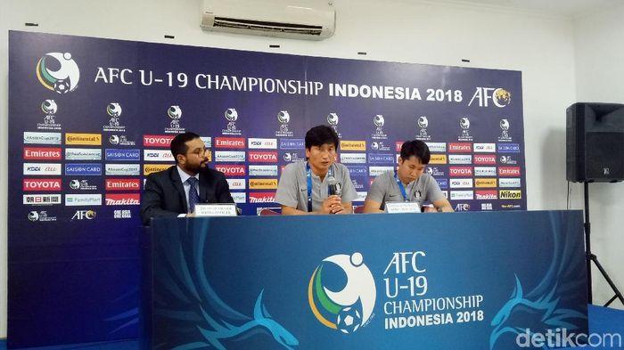 Korea Selatan berimbang 1-1 kontra Australia di Piala Asia U-19. (Foto: Randy Prasatya/detikSport)