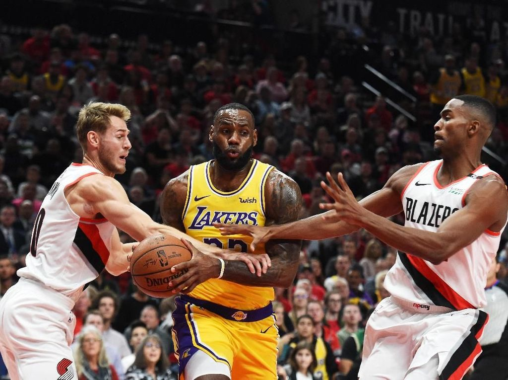 Debut LeBron Bersama Lakers Dirusak Blazers