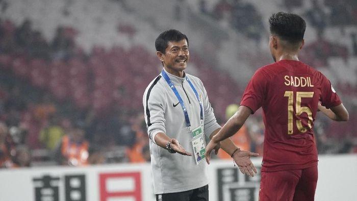 Indra Sjafri di Timnas U-19 saat menghadapi Taiwan di Piala Asia U-19, SUGBK, Kamis (18/10). (2018 Asian Football Confederation (AFC))