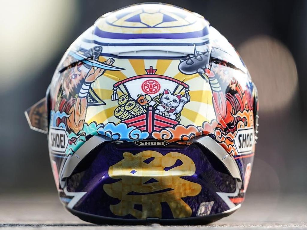 Helm Spesial Marquez di MotoGP Jepang, Persiapan Jadi Juara Dunia?