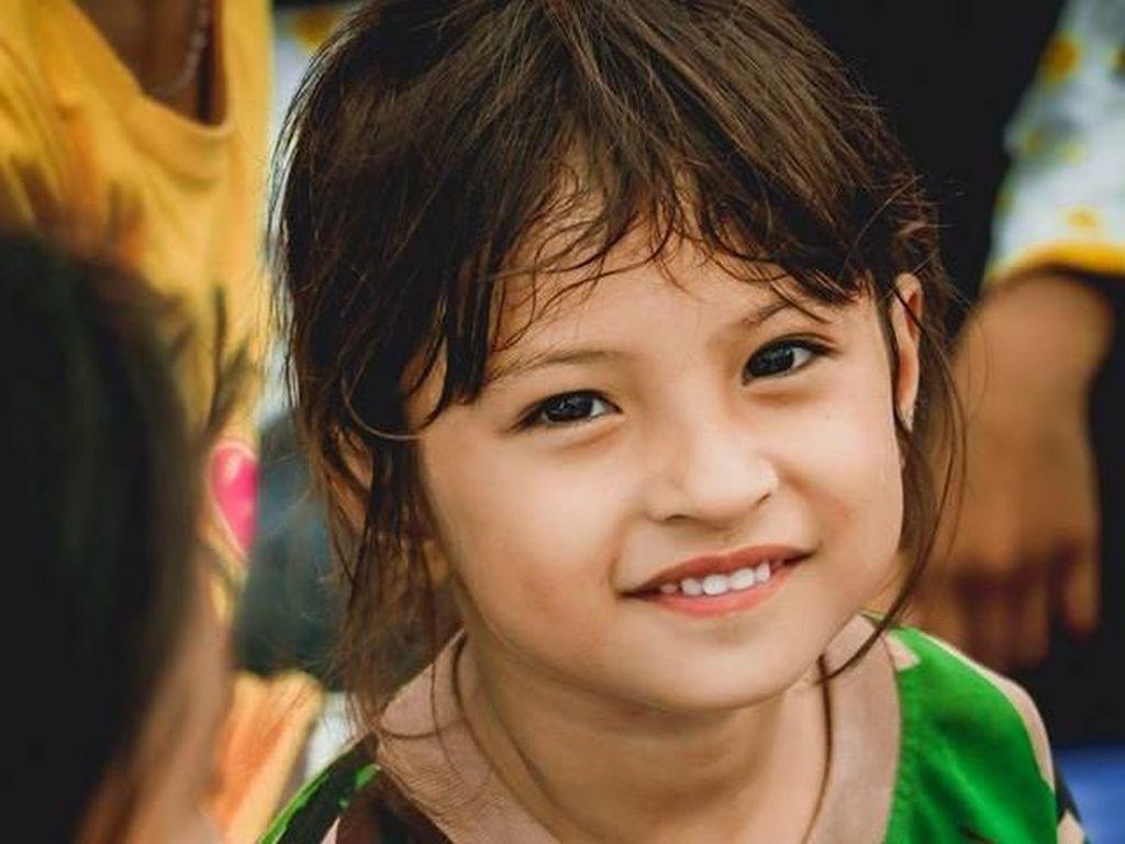 Senyum Ketegaran Jihan, Bocah Korban Gempa Sulteng yang Viral