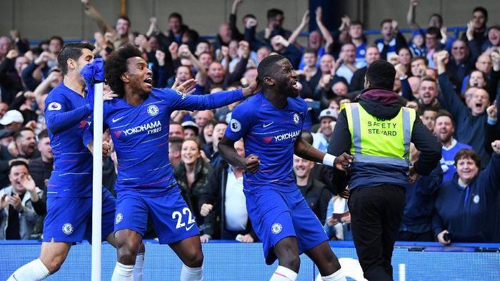 Chelsea ungguli Manchester United 1-0 di babak pertama (Dylan Martinez/REUTERS)