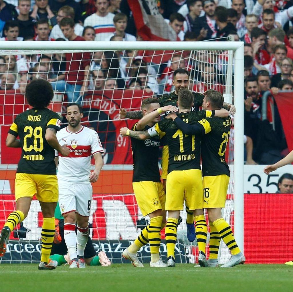 Hasil Stuttgart vs Borussia Dortmund: Die Borussen Pesta Gol