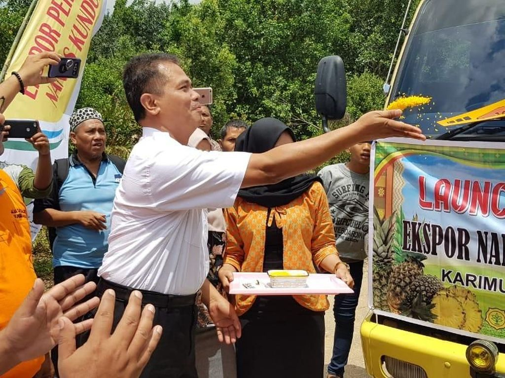 Kementan Lepas Ekspor Perdana Nanas dan Pisang Karimun ke Singapura