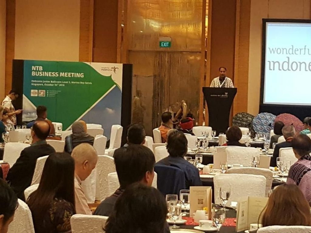 Di Singapura, Menpar Tegaskan Kalau Pariwisata NTB Sudah Pulih
