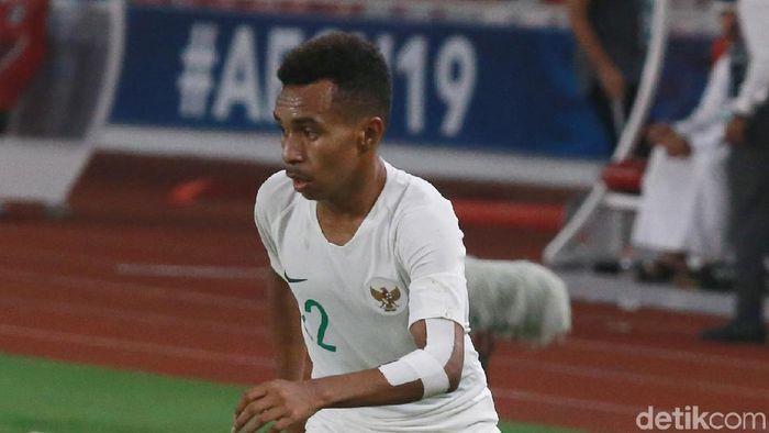 Todd Rivaldo Ferre bermain dalam kondisi sakit dalam laga timnas U-19 dikalahkan Jepang di Piala Asia U-19. (Foto: Ary Saputra/detikcom)