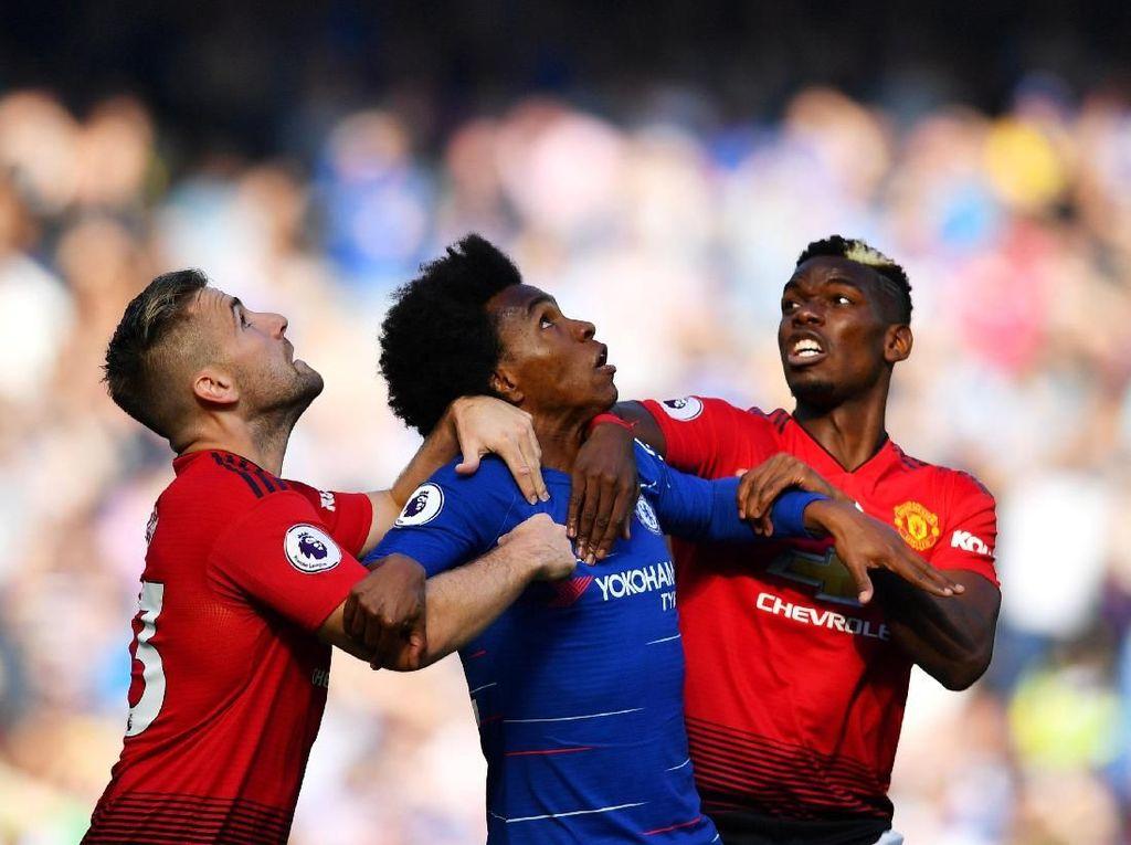 Duel Chelsea vs MU Berakhir Tanpa Pemenang
