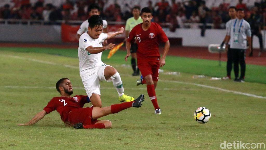 Hujan Gol Warnai Kekalahan Indonesia dari Qatar