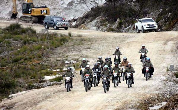 Capaian pembangunan jalan Trans Papua dalam periode 2015-2018 mencapai 908,8 km. Wilpret Siagian/detikcom.