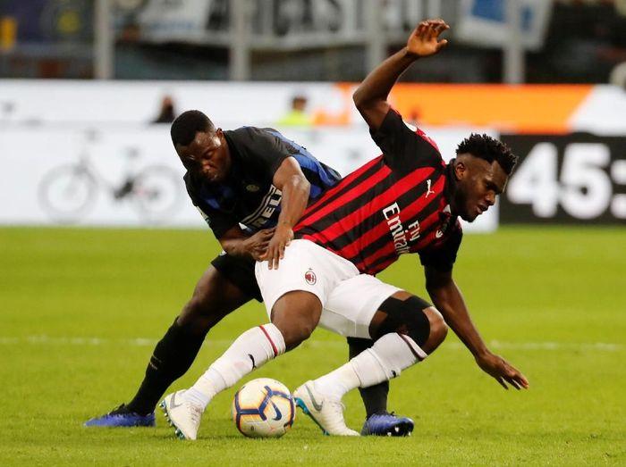 AC Milan menyerah 0-1 dari Inter Milan. (Foto: Stefano Rellandini/Reuters)